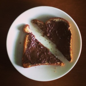 nutella toast 05.17.13